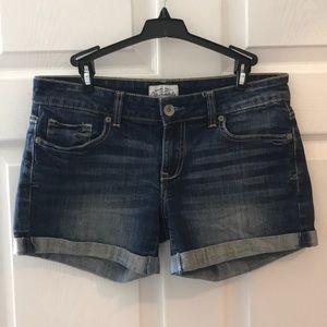 Aeropostale Size 3/4 Denim Cuffed Shorts